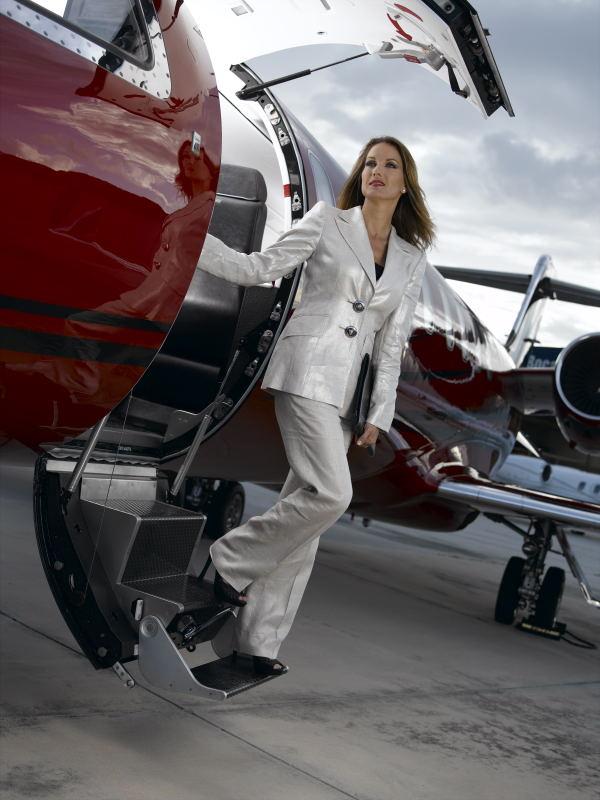 Deana Clark Fashion Model Lear Jet