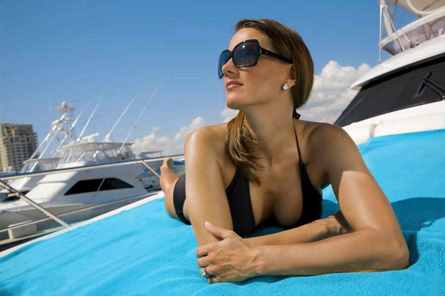 Deana Clark Model Sun Bath