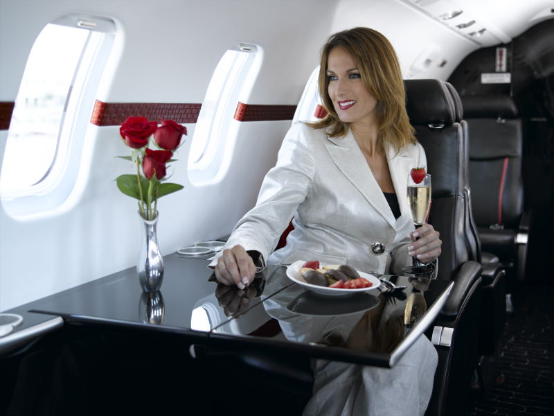 Deana Clark Lifestyle Model Private Jet 2