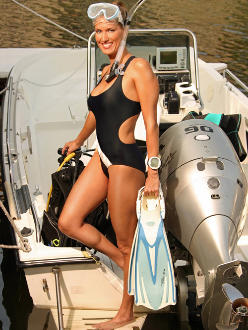 Deana Clark Model Diving Gear