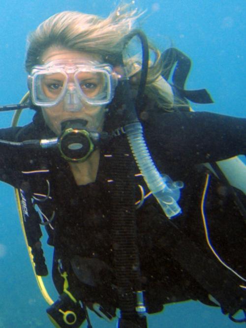 Deana Clark Model Scuba Diving Pic